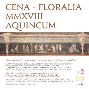CENA - FLORALIA MMXVIII AQUINCUM meghivo