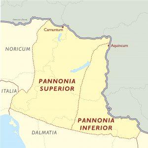 Pannonia térkép i.sz. 106 után