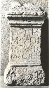 Marcus Ulpius Optatus felirat
