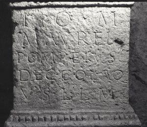 Marcus Aurelius Pompeius felirat